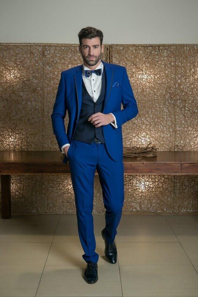 052a606192e6 Μπλε Ελεκτρίκ Γαμπριάτικο Κοστούμι - STATUS Κωνσταντίνος Μαργαρώνης