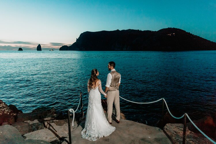 top wedding destination in italy, aeolian islands