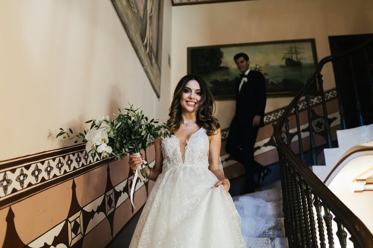 destination wedding in italy - the bride